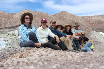 The vertebrate paleontology research group from Virginia Tech with members of the Petrified Forest National Park in Arizona in 2015.
